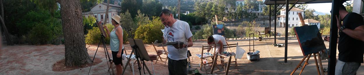 curso de pintura de paisaje en verano