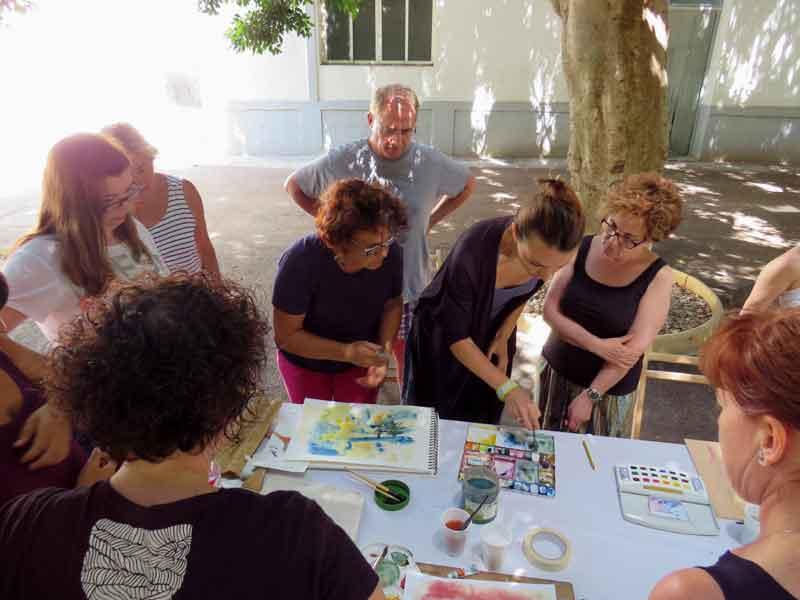 taller curso de acuarela verano